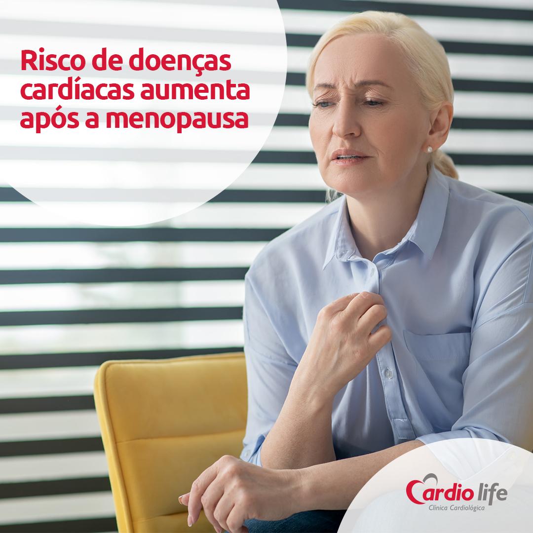 Risco de doenças cardíacas aumenta após a menopausa